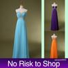 Buy Stock Real Image Sweetheart Formal Prom Evening Dress Chiffon line Sky Blue Orange Purple Bridesmaid Party Gowns 2015 NR Cheap