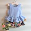Buy Children Set Kids Suit Outfits Girl Dress 2015 Summer Tank Tops Flower Shorts Sets Girls Clothes Clothing C4003