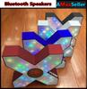 Buy Wireless Bluetooth S1 X Speaker LED colorful flashing lights Sound Box Subwoofer AV Audio Player speakers Bass Stereo Loudspeaker