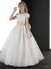Buy 2015 Cute A-line Flower Girls Dresses Floral Lace Appliques Cap Sleeve Princess pageant dress Wedding Party Dress