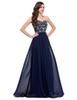 Buy Grace Karin Chic A-Line Chiffon Long Bridesmaids Evening Dresses Beading Sequins Sweetheart Neckline Prom Party CL6050