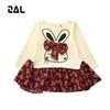 Buy ZAL 2016 Kids Dresses Girls Long Sleeve Knee-Length Cotton Cute Dress Vetement Fille 62441