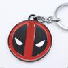 Buy Zinc Alloy Deadpool Q Face Pendant Keychain Super Hero Keychains Cute MARVEL Round