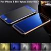 Buy Mirror Case iPhone 6 Bumper Aluminum Front+ Back Color Tempered Glass film / 6plus Frame Cases
