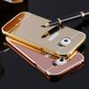 Buy Luxury Rose Gold Clear Mirror Aluminum Case Samsung Galaxy S5 S6 Edge S7 Note 3 4 5 iPhone 6 6S Plus i5 5S SE