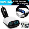 Buy Universal 5V 2.4A+1A Dual 2 USB Port Car Charger Adapter LED Monitor Display iPhone 6 6S iPad Samsung Tablet Car-Charger