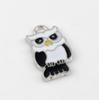Buy Hot ! 10White & Black Enamel Cute owl Charm Pendant DIY Jewelry 14.5 X 24MM