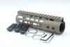 Buy Lightweight 7 inch Tan Keymod Handguard Rail System One-piece AR-15/M4/M16 3 x 5 Slots Black Sections