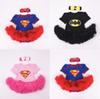 Buy Batman Superman Rompers Newborn Onesies TuTu Dress Superhero Toddler Outfit Infant Outwear Cartoon Cotton Baby Romper One-Piece