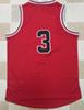 Buy !! 2016 new team basketball jersey authentic style red #3 (thick stitched)