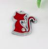 Buy Hot ! 10Red Enamel Cat Charm Pendant 20 X 23 MM DIY Jewelry