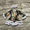 Buy 2016 girls Fall dress kids floral baby lace party children boutique fall headband