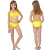 Buy Summer Girls Two Piece Fringe Swimwear Triangle Halter Neck Swimsuit Teenagers little kids bikini Children Bathing Suits Bikini