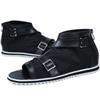 Buy Urban Fashoin Mesh & PU Leather Patchwork Gladiator Beach Sandals Mens Casual Shoes Open Toe Fish Mouth Buckle Straps Zip Breathable Summer