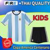 Buy 2016 Copa America Centenario Argentina kids youth boys soccer jerseys Uniforms set 16 17 DI MARIA HIGUAIN MESSI Kun Aguero football shirts