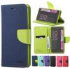 Buy Mercury Wallet PU Flip Leather Case Card Slot TPU Cover SONY Xperia XZ X Campact Samsung ON7 2016 J7 Prime Z2 J2 Pro LG V20 Huawei P9