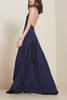 Buy Backless Sexy Formal Evening Dress Spaghetti Straps Navy Blue Chiffon A-line Long Women Party Dresses special occasion