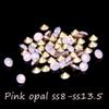 Buy 2016 Glitter Pointback Crystal Rhinestones Glass Stones ss8-ss13.5 Pink Opal Color 144Loose Strass Bead DIY Nail Art Decoration