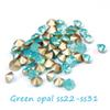 Buy 288/72Pointback Crystal Rhinestones Green Opal Gems ss22-ss31 Non Hotfix Round Glass Rhinestone Strass Beads DIY Jewelry Making
