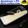 Buy Metal Aluminum luxury bumper + PC Cover mirror case Iphone 5s se 6 6s Plus Samsung S6 S6EDGE S7 NOTE 4 5 A7 A5 A8 J5