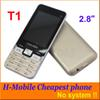 Buy Cheap H-Mobile T1 2.8 inch Mobile Phone Dual Sim Quad Band 2G GSM unlocked Back Camera Flashlight Bluetooth FM MP3 system 1