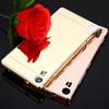 Buy Lenovo Z90-3 Case Luxury Aluminum Mirror Bumper Z90-7 Cell Phone Cases PC Back Cover Metal Fundas Frame