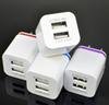 Buy Metal Dual USB wall Charger US plug 2.1A AC Power Adapter 2 port samsung galaxy note 7 plus tablet ipad goophone