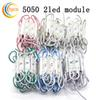 Buy led light module high bright 5050 2led plastic shell Waterproof IP65 DC12V white warm red yellow green blue