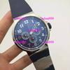 Buy Luxury Mens Brands Automatic Chronograph Watches Stainless UN 7750 Movement Marine Blue Dial Rubber Bands Ulysse Business Wristwatches