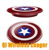 Buy Universal Qi Wireless Charger Transmitter Captain America Charging Plate Samsung iPhone 7Plus transmitter