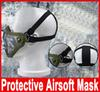 Buy ZL-V1 Half Lower Face Metal Steel Net Mesh Hunting Tactical Protective Airsoft Double Belt Mask Hot Selling