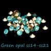 Buy 720/144Glass Rhinestones ss14-ss21 Green Opal Color Non Hotfix Pointback Crystal Stones Beads DIY Jewelry Decoration