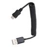 Buy 3ft 1M Spring Coiled USB 2.0 Male Micro 5 Pin Data Sync Charger Extension Cable adapter mobile phone samsung huawei xiaomi lenovo