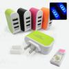 Buy EU/US Plug 3.1A Triple USB Port Wall Charger Home Travel LED AC Adapter iPhone iPad Samsung Charging Cable