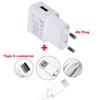 Buy 2A EU Plug Wall Cell Phone Charger Portable Travel Mobile Charger+Type C USB Data Cable Xiaomi Mi 5 4C 4S,Meizu Pro 6