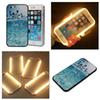 Buy 2016 Popular Luxury Colorful Painting Phone Case Selfie Hard Cover LED Light iPhone 6 6S Plus 4.7/5.5 inch iphone 5s