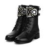 Buy Christmas gift 2016 women boots winter fashion quality motorcycle Ankle leather knee shoes Boots