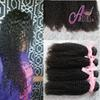 Buy 8A 100% Brazilian Malaysian Indian Peruvian Human Hair Weave Kinky Curl Bundles Natural Color Unprocessed Extensions