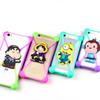 Buy Universal 3D Cartoon Silicon Frame Bumper Case Stitch Minnie kitty Minions Cases Suit Iphone Samsung Xiaomi Huawei