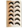 Buy 6 Pairs Eyelashes Mink Collection False Real Hair Handmade Fake Eye Lashes Professional Makeup Tip Bigeye Long
