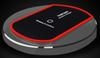 Buy red black Wireless Fast Charger Alloy Charging Pad Dock UFO Circle Stand Qi Samsung S6 S7 Edge iPhone 6 6s
