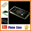 Buy Tpu PC Hybrid Incoming Call LED Case iPhone 7 6s Plus Light Cases Samsung Galaxy S6 S7 Edge A5 J3 J5 A7
