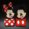 Buy 3D Cute Cartoon Mickey Minnie Mouse Soft Silicone Rubber Case Samsung Galaxy S5 S6 Edge Note 3 4 5 Grand Prime G530 Core 2 G355 i9082