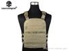 Buy Tactical Vest Molle EMERSON CP STYLE Lightweight AVS VEST/KH Airsoft Cross Draw 9 Pockets Pistol Holster, Large