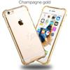 Buy Transparent TPU Acrylic Clear Cover Soft colorful Shell Case Ultra Thin Back colors iphone 6s plus galaxy S7 Edge 100 Opp Package