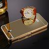 Buy Lenovo ZUK Z1 Case Luxury Aluminum Mirror Bumper Cell Phone Cases PC Back Cover Metal Fundas Frame