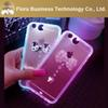 Buy TPU Cover Calling LED Rhinestone Bling Light Phone Case iPhone 5 5s 6 6s 6plus 6splus Free DHL Shipping