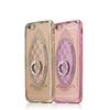 Buy style Apple iPhone 7 6S 3D Plating Glitter Case Soft TPU Diamond Ring Holder Cover iPhone7 Plus Crystal Phone case