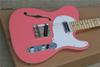 Buy Factory Custom new TL Maple fingerboard Pink Electric Guitar Te lecaster real photo showing 16 131