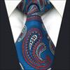 Buy B1 Blue Paisley Mens Necktie Tie Silk Jacquard Woven Fashion Classic extra long size Ties male